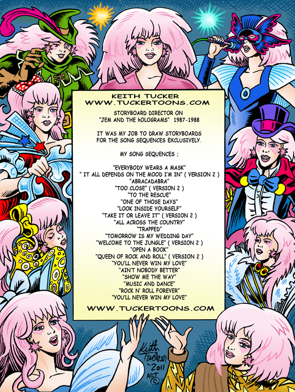 Jem and the Holograms, the Misfits, 80's cartoons, story boards, animation,Science Fiction, Adventure,Comedy-drama,Romance,Christy Marx,Sunbow Productions,Hasbro,The Stingers,Starlight  Music, MTV, Marvel Productions,Griffin-Bacal Advertising,Roger Slifer, Buzz Dixon,Marv Wolfman, animation artists,abracadabra