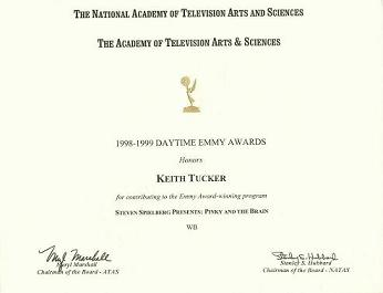 Emmy for Pinky and the Brain