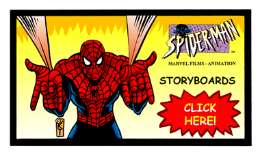 Spider Man Storyboards