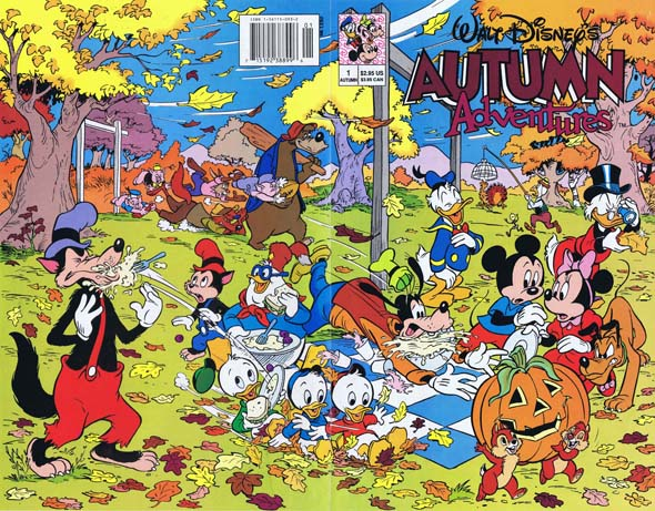 walt disney autumn adventures, disney comics, 90's comics, animation comics, keith tucker comics