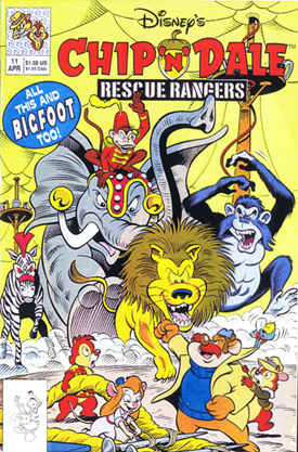 Rescue Rangers comics, chip and dale,  Disney Afternoon, Chip 'n Dale Rescue Rangers, Walt Disney Television Animation,  80's cartoons, Saturday morning cartoons, Disney TV cartoons, Gadget, Monterey Jack,  Zipper,  Indiana Jones-type,  keith tucker comics, animation