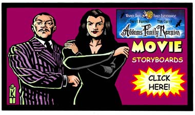Addams Family Storyboards