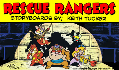 Disney Afternoon, Chip 'n Dale Rescue Rangers, Walt Disney Television Animation,  80's cartoons, Saturday morning cartoons, Disney TV cartoons,  Gadget, Monterey Jack,  Zipper,  Indiana Jones-type,  keith tucker storyboards, animation