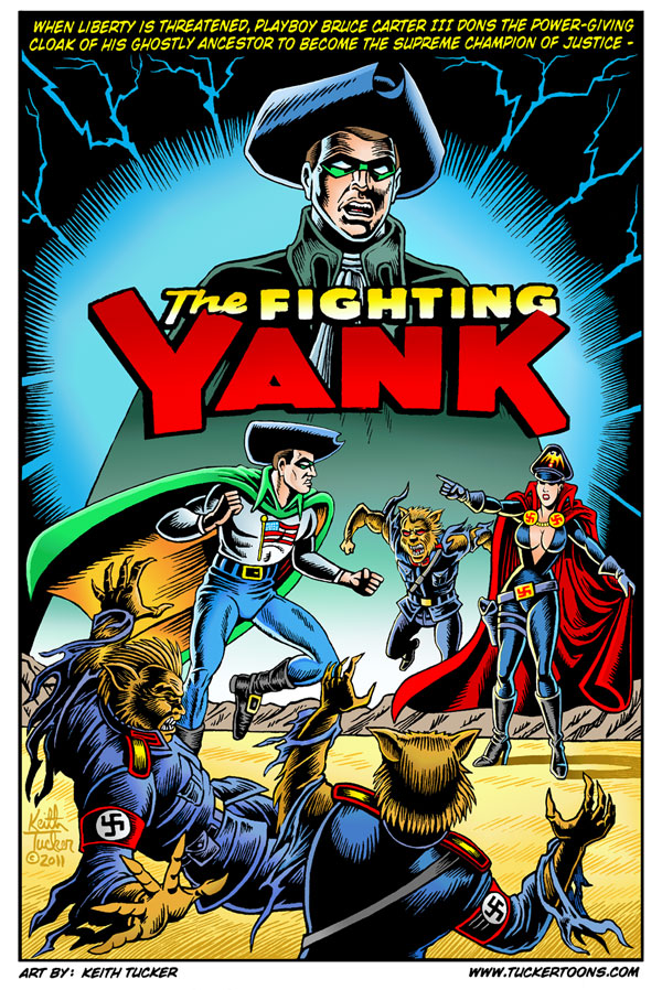 The Fighting Yank, Nedor Comics, Startling Comics, Golden Age of comic books,Bruce Carter III , Femforce #157, the black terror, Keith Tucker, comics art, super hero comics,animation artist,n.e.d.o.r. agents, pyro-man,captain america,silver age comics,cartoonists,original comic art, comic book art prints